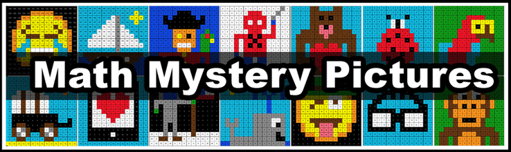 Online Color By Number Math Mystery Pictures | Pixel Art Math